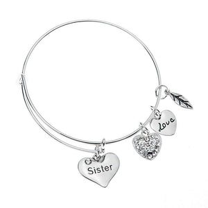 Sister Bangle Bracelet- Sister Jewelry- Perfect Gift for Sisters