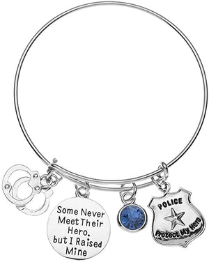 Police Mom Bracelet, Some Never Meet Their Hero, But I Raised Mine Jewelry - Infinity Collection
