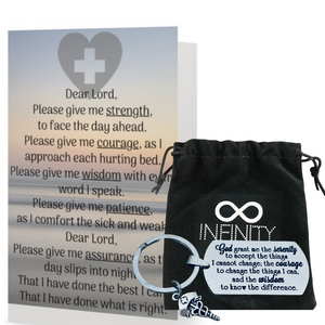 Nurse Prayer Keychain & Card - Infinity Collection