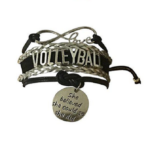 Volleyball She Believed She Could So She Did Infinity Bracelet - Infinity Collection