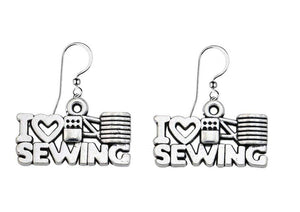 Sewing Jewelry- Sewing Gift, Love Sewing Earrings, Sewing Gifts, Perfect Gift for Quilters or Sewers - Infinity Collection