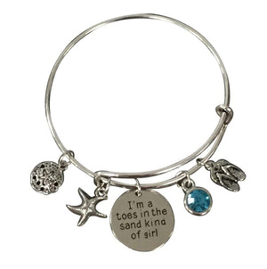 Life is Better at the Beach Bracelet, Beach Jewelry, Gift for Beach Girls - Infinity Collection