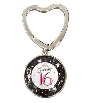 Sweet 16 Gift- Sweet 16 Keychain - Sweet Sixteen Gift- Perfect Birthday Gift For Girls