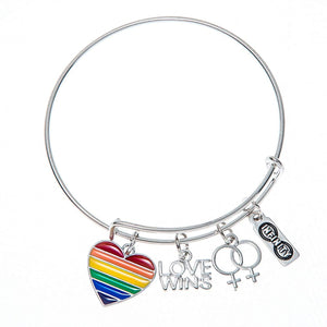 Love Wins Bracelet, LGBT Bracelet- Lesbian Pride Jewelry, Rainbow Pride Bracelet & Perfect Lesbian Gifts - Infinity Collection