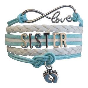Sister Bracelet -Sister Jewelry- Sister Charm Bracelet, Big Sister Bracelet for Girls- Perfect Gift for Sisters - Infinity Collection