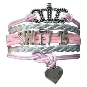 Quince Bracelet- Girls Sweet 15 Jewelry - Quinceanera Bracelet- Perfect Birthday Gift For Girls Fifteenth Birthday - Infinity Collection
