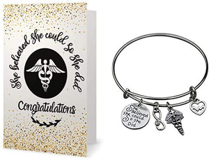 Nurse Bracelet & Card Gift Set - Infinity Collection