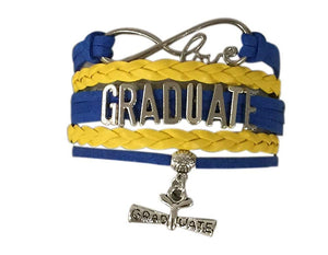 Infinity Collection Graduation Jewelry, Class of 2018 Graduate Bracelet- Perfect Graduation Gift- (10 Colors) - Infinity Collection