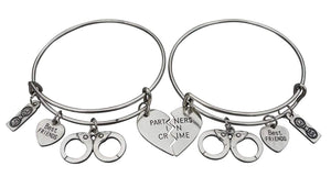 Best Friend Bracelet, Best Friends Jewelry, Handcuff Bracelet-Partner in Crime- Perfect Best Friend Gifts - Infinity Collection