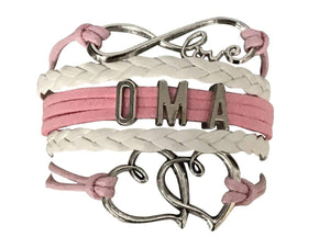 Oma Bracelet, Oma Jewelry, Pink Grandma Jewelry Makes Great Grandma Gifts - Infinity Collection