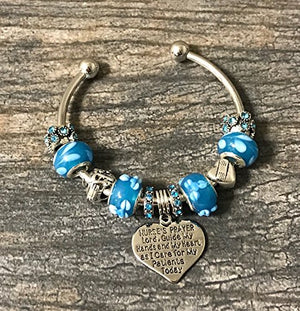 Nurse Prayer Charm Beaded Bracelet - Infinity Collection