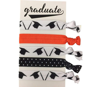 Graduation Accessories, Graduation Hair Ties, Graduation Gift for Girls, No Crease Graduate Cap Elastics Set, Perfect Gift for Graduation (7 Colors) - Infinity Collection