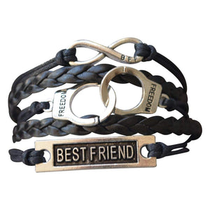 Best Friend Bracelet, Best Friends Jewelry, Handcuff Bracelet- Perfect Best Friend Gifts - Infinity Collection