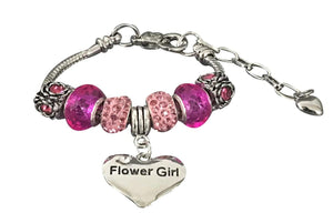 Flower Girl Bracelet, Flower Girl Jewelry- Wedding Bracelet-Makes the Perfect Gift For Flower Girls - Infinity Collection