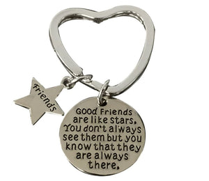 Best Friends Keychain-Good Friends Heart Keychain- Friend Jewelry- Perfect Gift for Friends - Infinity Collection