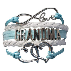 Grandma Bracelet, Grandma Jewelry Makes Great Grandma Gifts(Blue & Pink Available) - Infinity Collection