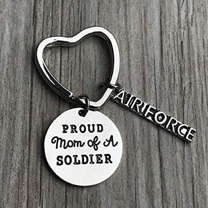 Proud Air Force Mom Keychain - Infinity Collection