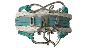 Oma Bracelet, Oma Jewelry, Grandma Jewelry Makes Great Grandma Gifts - Infinity Collection