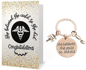 Nurse Keychain & Card Gift Set - Infinity Collection
