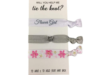 Flower Girl Gift, Flower Girl Hair Ties, Bridesmaid Jewelry Accessory-Makes the Perfect Gift For Flower Girls - Infinity Collection