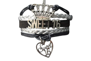 Sweet 16 Bracelet- Girls Sweet 16 Jewelry - Perfect Birthday Gift For Girls - Infinity Collection