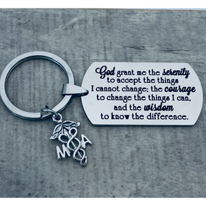 Nurse Keychain - Serenity Prayer - Pick Charm - Infinity Collection