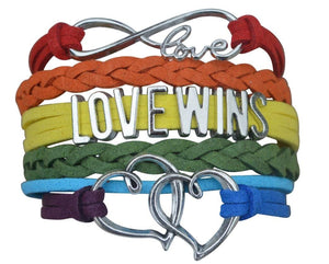 LGBT Bracelet, Love Wins Bracelet- Lesbian Pride Jewelry, Rainbow Pride Bracelet & Perfect Lesbian Gifts - Infinity Collection