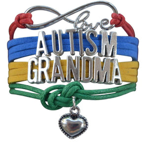 Autism Grandma Bracelet, Autism Awareness Jewelry, Autism Puzzle Piece Bracelet Makes the Perfect Gift - Infinity Collection