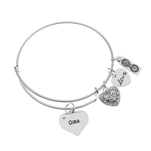 Oma Bracelet, Oma Jewelry, Oma Bangle, Grandma Jewelry Makes Great Grandma Gifts