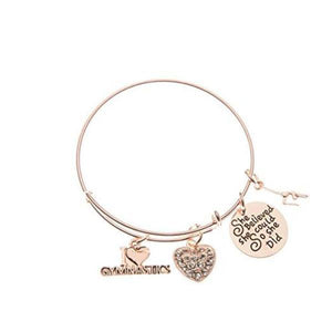 Gymnastics She Believed She Could So She Did Bangle Bracelet-Rose Gold - Infinity Collection