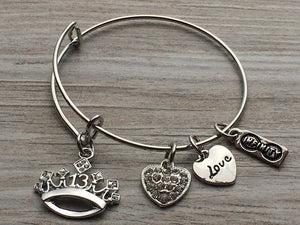 Infinity Collection Girls 13th Birthday Charm Bracelet - Infinity Collection