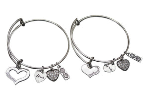 Godmother, Goddaughter Bangle Bracelet Set- Godmother Gifts- Godmother Jewelry- Perfect Gift for Godmothers & Goddaughters