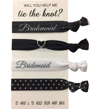 Bridesmaid Gifts, Bridesmaid Hair Ties, Bridesmaid Jewelry Accessory - Infinity Collection