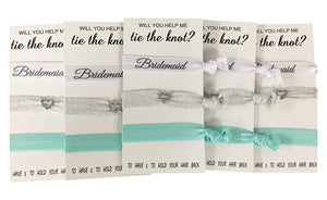 Bridesmaid Hair Ties, Bridesmaid Proposal Gifts-Makes the Perfect Gift For Bridesmaids - Infinity Collection