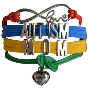 Infinity Collection Autism Mom Bracelet, Autism Awareness Jewelry, Autism Puzzle Piece Bracelet Makes the Perfect Gift - Infinity Collection