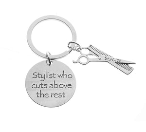 Infinity Collection Hairdresser Jewelry, Hair Stylist Charm Keychain, Perfect Gift for Stylists - Infinity Collection