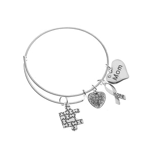 Autism Mom Bracelet, Autism Awareness Jewelry, Autism Puzzle Piece Bracelet Makes the Perfect Gift - Infinity Collection