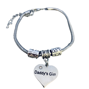 Daddy's Little Girl Charm Bracelet