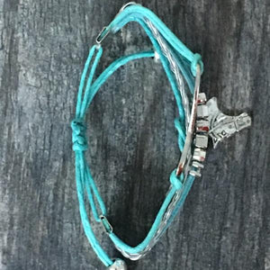 Horse Infinity Charm Bracelet - Teal - Infinity Collection