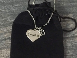 Sweet 16 Necklace- Sweet 16 Jewelry - Sweet Sixteen Gift- Perfect Birthday Gift For Girls