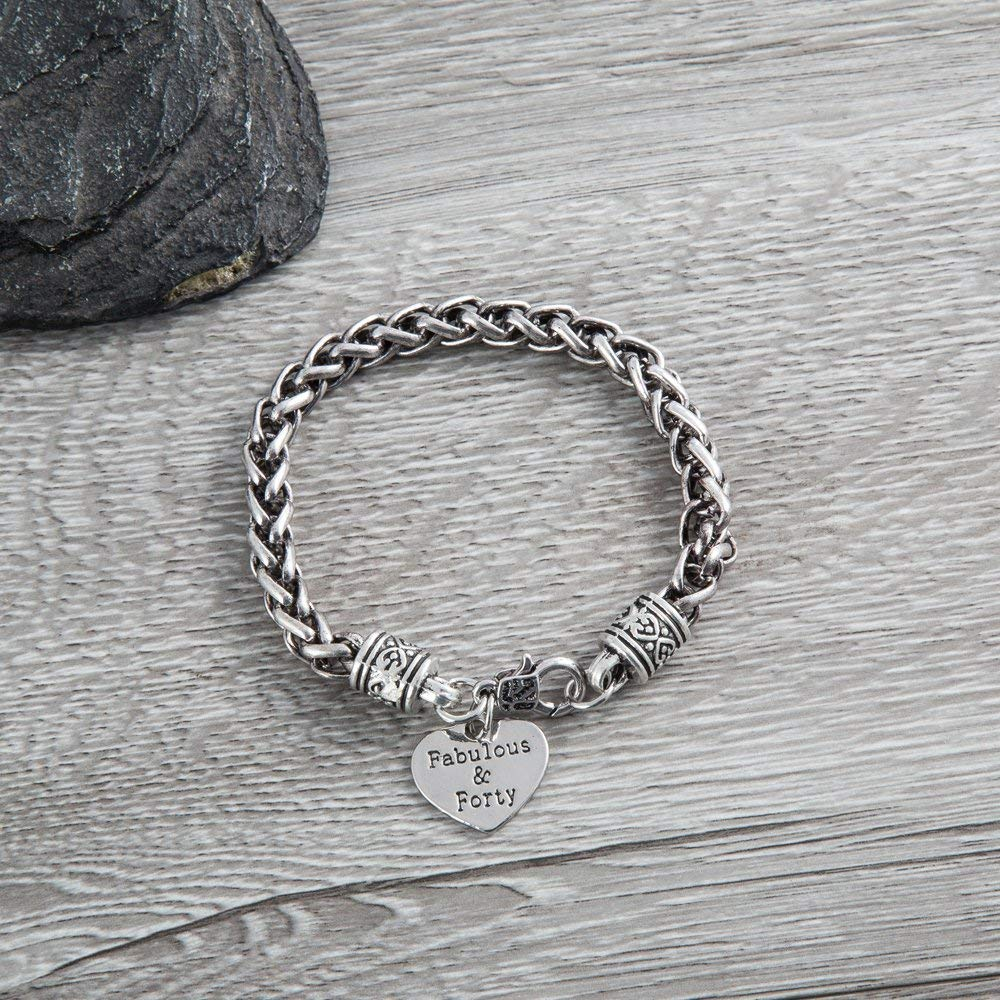 40th Birthday Bracelet Gifts For Women Charm