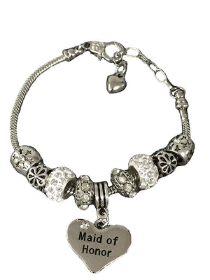 Maid of Honor Gift Bracelet, Bridesmaid Bracelets, Makes the Perfect Gift For Maids of Honor - Infinity Collection