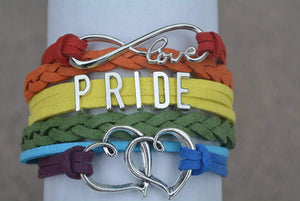Gay Pride Bracelet - LGBT Bracelet, Gay Pride Jewelry, Rainbow Pride Bracelet & Perfect Gay Pride Gifts - Infinity Collection
