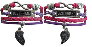Best Friend Bracelet Set, Best Friends Jewelry - 2 BFF Bracelets- Perfect Best Friend Gift - Infinity Collection