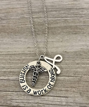Nursing is a Work of Heart Necklace - Infinity Collection
