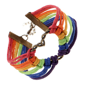 Infinity Collection LGBT Bracelet, Lesbian Pride Jewelry, Rainbow Pride Bracelet & Perfect Lesbian Gifts -Free Shipping