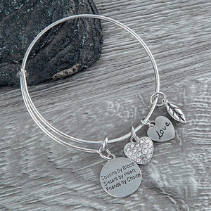Cousin Gift- Cousin Bracelet - Cousin Jewelry - Cousins by Chance, Friends by Choice -Cousin Adjustable Bangle- Perfect Gift for Cousins - Infinity Collection