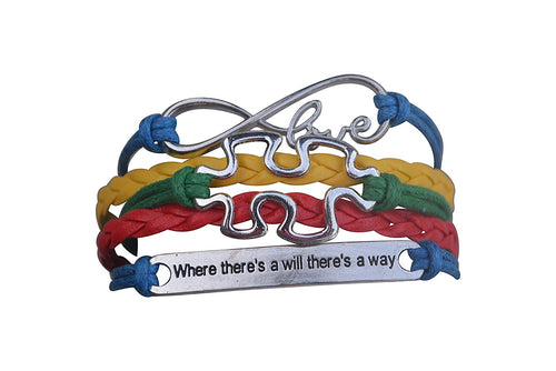 Autism Bracelet, Autism Awareness Jewelry, Autism Where There is a Will There is a Way Puzzle Piece Bracelet Makes the Perfect Autism Gift - Infinity Collection