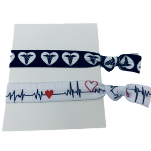 Nurse Hair Ties, 2pc set - Infinity Collection