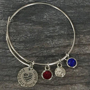 Airforce Mom Bangle Bracelet - Infinity Collection
